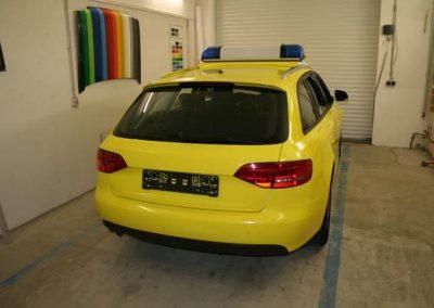 folierung-notarzt-gelb
